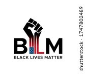 i can't breathe  black lives... | Shutterstock .eps vector #1747802489