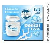 dental floss oral hygiene... | Shutterstock .eps vector #1747803740