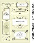 set of ornate vector frames and ...   Shutterstock .eps vector #1747807556