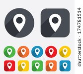 map pointer icon. gps location... | Shutterstock .eps vector #174781514