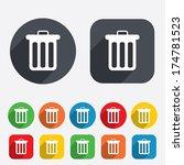 recycle bin sign icon. bin... | Shutterstock .eps vector #174781523