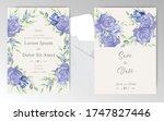 editable wedding invitation...   Shutterstock .eps vector #1747827446