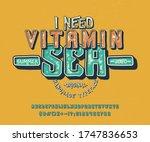 Font I Need  Vitamin Sea. 3d...