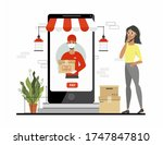 ordering secure courier... | Shutterstock .eps vector #1747847810