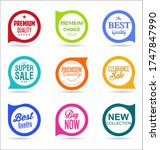 modern colorful sales badges... | Shutterstock . vector #1747847990