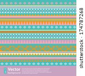 ethnic abstract seamless... | Shutterstock .eps vector #174787268