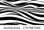 Abstract Wave Of White And...
