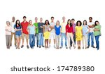 large group of people | Shutterstock . vector #174789380