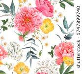 beautiful seamless floral... | Shutterstock . vector #1747899740