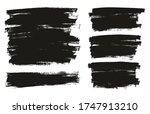 flat paint brush thin full... | Shutterstock .eps vector #1747913210