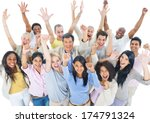 large group of people... | Shutterstock . vector #174791324