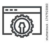 programming black line icons on ... | Shutterstock .eps vector #1747923083