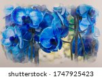 Water Color Effect Of Bouquet...