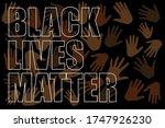 black lives matter text on... | Shutterstock .eps vector #1747926230