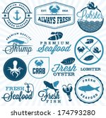 collection of seafood... | Shutterstock .eps vector #174793280