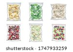 chopped frozen vegetables and... | Shutterstock .eps vector #1747933259