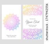 mandala rainbow ornament card... | Shutterstock .eps vector #1747942556