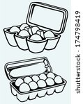 eggs in a carton package. image ...   Shutterstock .eps vector #174798419