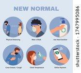 new normal advice in public... | Shutterstock .eps vector #1747995086