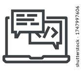 message computer black line... | Shutterstock .eps vector #1747997606