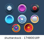vector web template button ui... | Shutterstock .eps vector #174800189