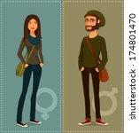 cartoon illustration of young...   Shutterstock .eps vector #174801470