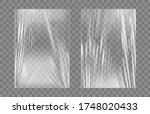 transparent stretch plastic...   Shutterstock .eps vector #1748020433