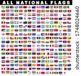 collection of all national... | Shutterstock .eps vector #1748024660