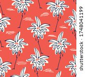 cute doodle hand drawn palms... | Shutterstock .eps vector #1748041199