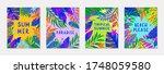 bundle of summer vector... | Shutterstock .eps vector #1748059580