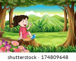illustration of a young girl... | Shutterstock .eps vector #174809648