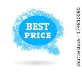 vector best price label.  | Shutterstock .eps vector #174810080