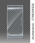 realistic transparent glass... | Shutterstock .eps vector #1748109326