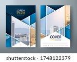 flyer design  leaflet cover... | Shutterstock .eps vector #1748122379