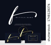 simple elegant initial... | Shutterstock .eps vector #1748128376