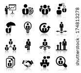 icon set in black for business  ...   Shutterstock .eps vector #174813278