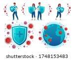 protect from corona virus.... | Shutterstock .eps vector #1748153483