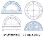 protractor. angles measuring... | Shutterstock .eps vector #1748153519