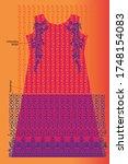 modern salwar kameez artwork... | Shutterstock .eps vector #1748154083