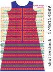 modern salwar kameez artwork... | Shutterstock .eps vector #1748154089