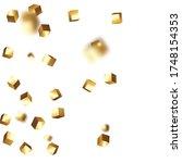 birthday card with metallic... | Shutterstock .eps vector #1748154353