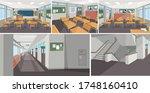 school interior background...   Shutterstock .eps vector #1748160410