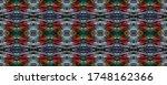 rectangle geo rapport. ethnic... | Shutterstock . vector #1748162366