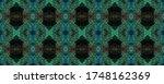 watercolor ethnic design. kilim ... | Shutterstock . vector #1748162369