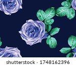 girly hawaiian peony background.... | Shutterstock .eps vector #1748162396