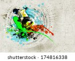 graffiti style image of... | Shutterstock . vector #174816338