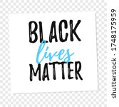 isolated table with black lives ...   Shutterstock .eps vector #1748175959