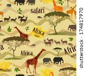 ethnic african seamless texture | Shutterstock .eps vector #174817970