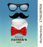 happy holiday fathers day... | Shutterstock .eps vector #1748180906