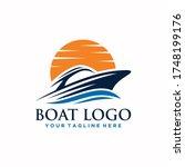 Boat And Sea Logo Sign